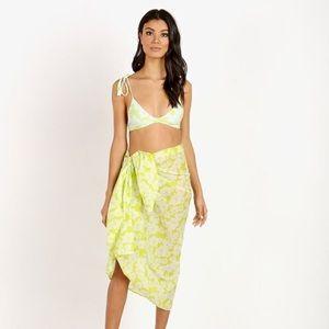 acacia swimwear Accessories - NWT Acacia Swimwear Kuau Pareo in neon magnolia